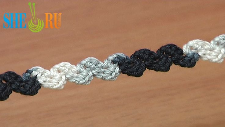 Crochet Simple Zig-Zag Cord Tutorial 36 Single Crochet  http://sheruknitting.com/videos-about-knitting/romanian-lace-ribbons-and-cords/item/365-crochet-zig-zag-cord.html _Kjc Crochet for beginners. This cord is simple to make you just need to work single crochet stitches. Due to its flexibility it is often used to create a lace composition. You can use this cord as a crochet shoestrings, belts, fasteners etc. Thank for watching!