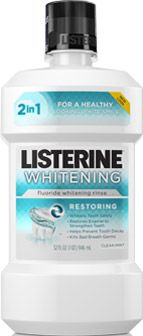 Another AMAZING mouth wash that whitens teeth and helps protect your enamel with enamel restoration! Can't go wrong with this one. :)  LISTERINE® WHITENING® RESTORING FLUORIDE WHITENING RINSE