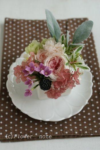 『デザートのようなプチアレンジ』 http://ameblo.jp/flower-note/entry-11305165398.html