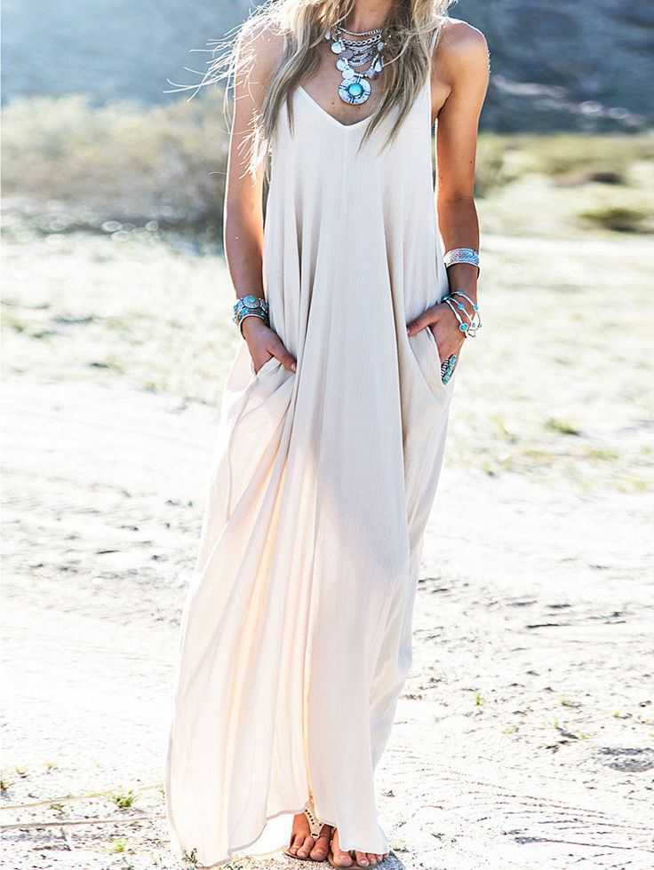 maxi robe plissé à bretelle -blanc  13.50