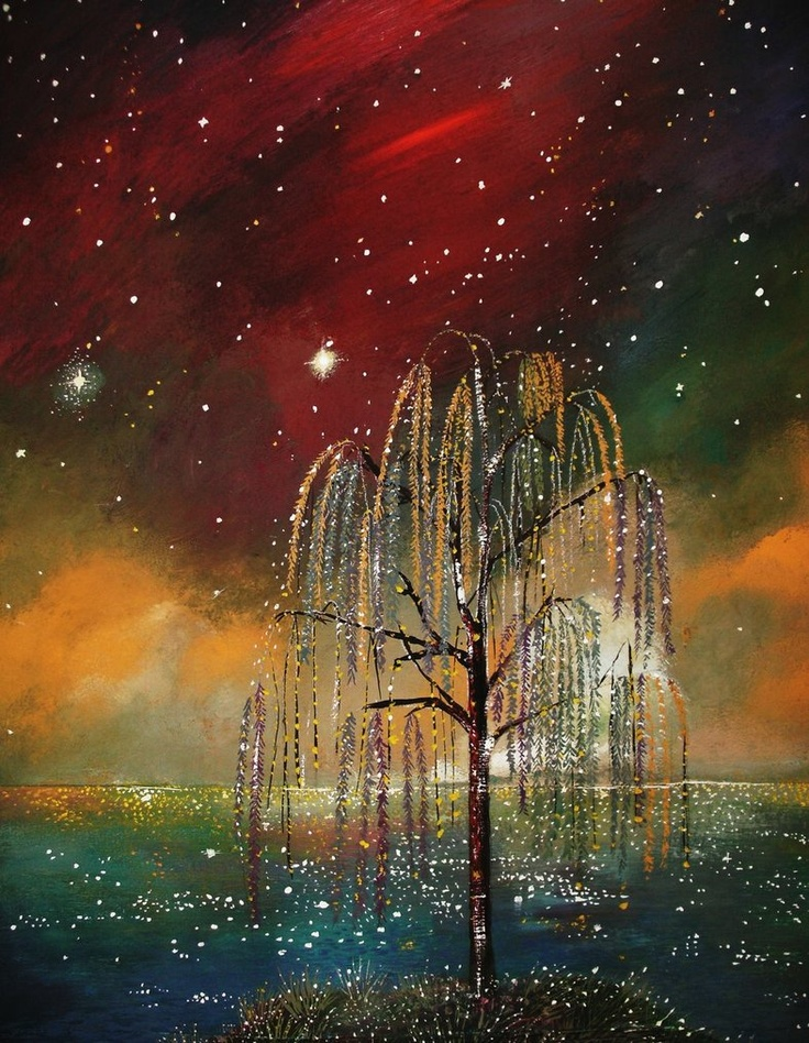 weeping willow tree artwork, this is so beautiful!