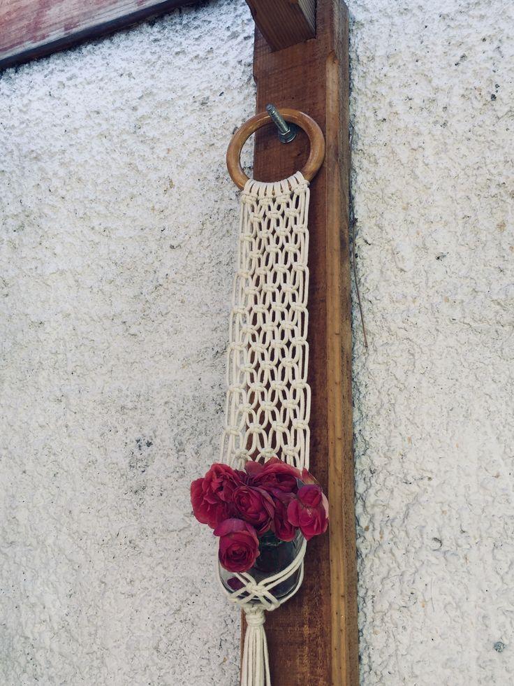 Cutest macrame plant hanger 3mm rope 100% cotton Cozy Shop Los Cobres Vitacura Chile