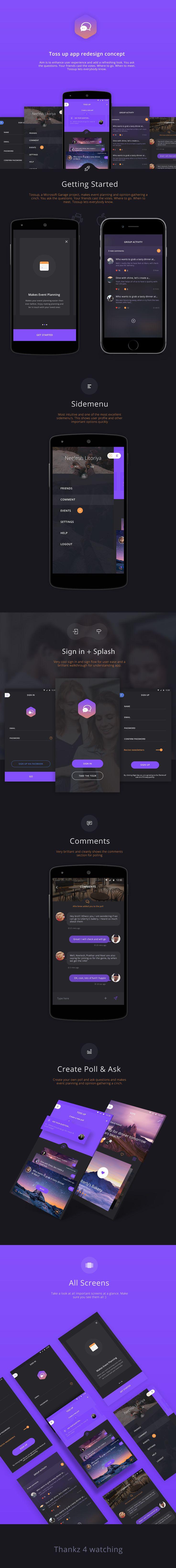 TOSS up app (redesign) on Behance