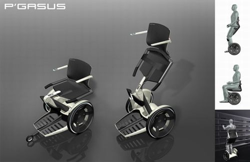 P'gasus Wheelchair Design - 23 Awesome Wheelchair Mods and Designs | Walyou