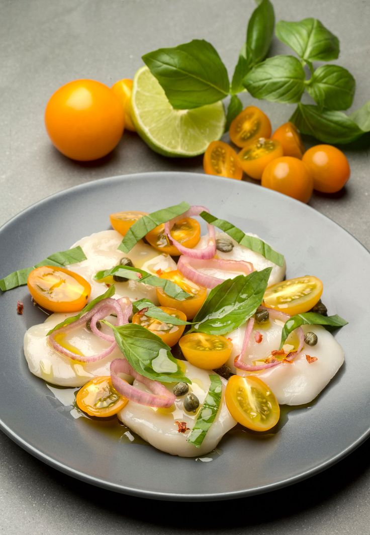 For an elegant, easy first course, all you need are large ultra-fresh sea scallops Ask your fishmonger for dry-packed day-boat or diver scallops The carpaccio takes only a few minutes to assemble.