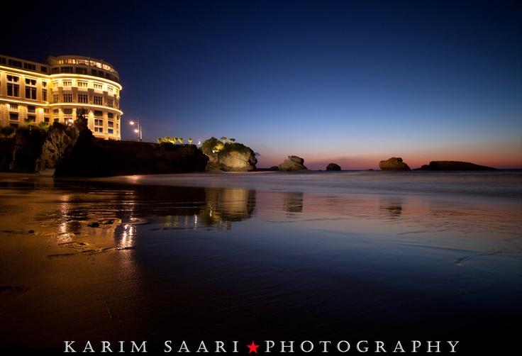 Biarritz by night Portfolio photo, Photo facebook, Landes