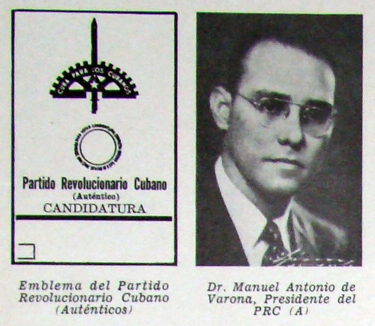 Principales partidos políticos existentes en Cuba en vísperas de las elecciones presidenciales de 1952