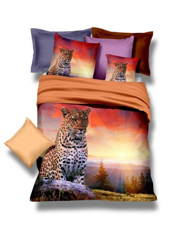 Kvalitné posteľné obliečky s gepardom