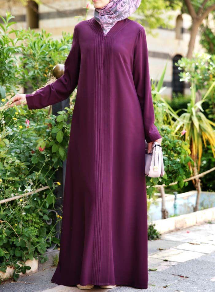 SHUKR USA | Abaya with Pintucks