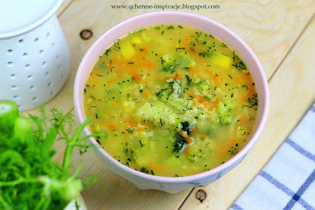 Qchenne-Inspiracje! FIT blog o zdrowym stylu życia i zdrowym odżywianiu. Kaloryczność potraw. : Zimowa zupa brokułowa z kaszą jaglaną! Sycąca i ro...