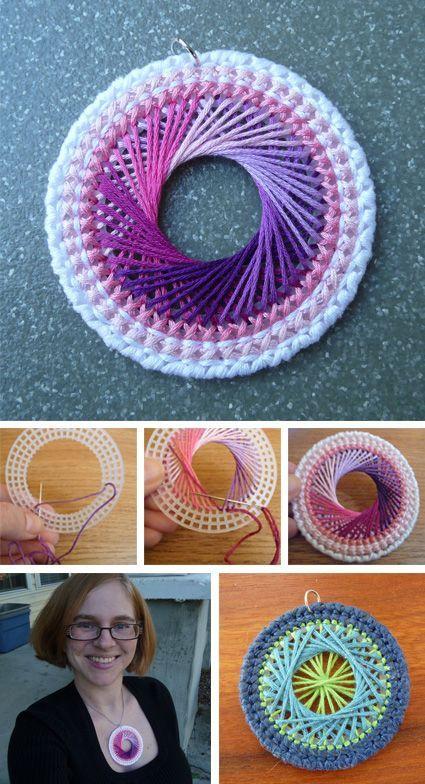 Stockade's Blog: Featured Craft: Plastic Canvas Coaster Necklace: