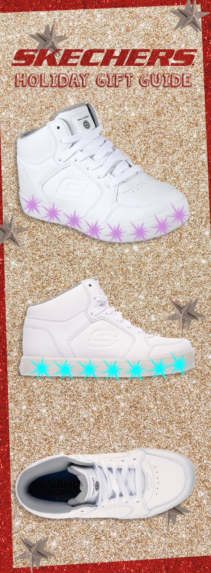 The future of lightup footwear is home for the holidays. #SKECHERSkids