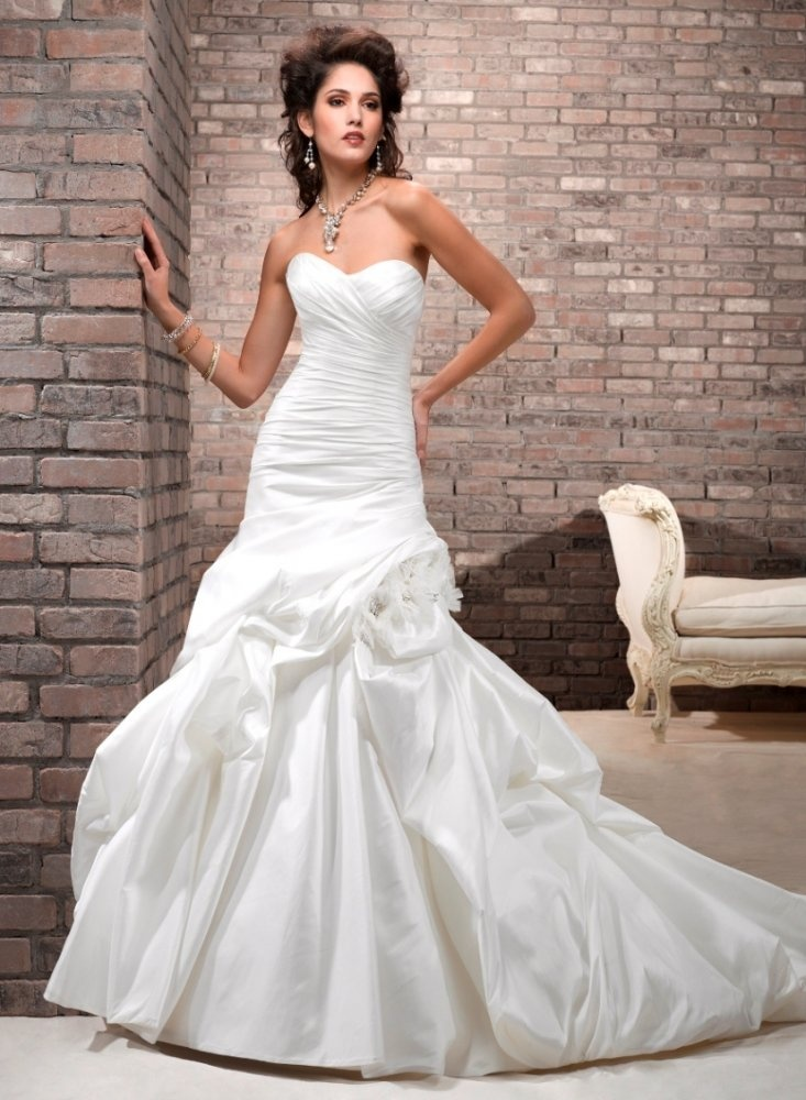 108 best images about fit flare wedding dress on for Fit and flare ruched wedding dress