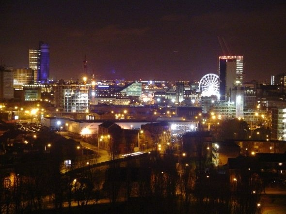 Manchester's Skyline at Night