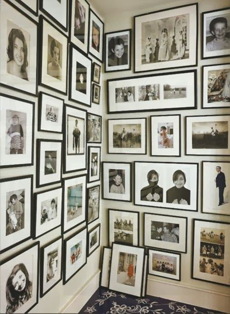 Family Photo Wall Organization Design Decor