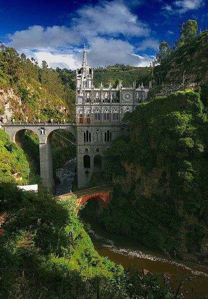 Las Lajas Sanctuary, Colombia. Don't know why I need to see this.