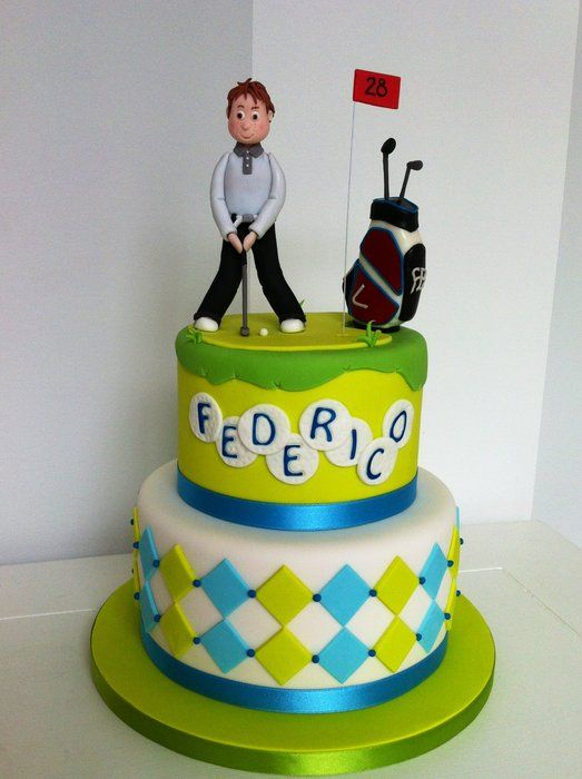 Golf player cake - by BellasBakery @ CakesDecor.com - cake decorating website
