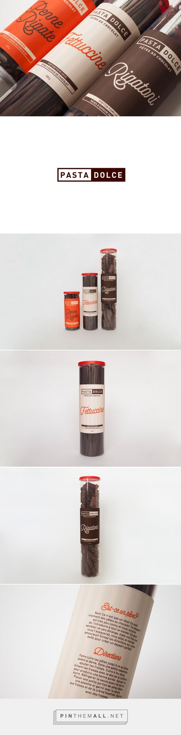 Pasta Dolce Packaging on Behance https://www.behance.net/gallery/26269511/Pasta-Dolce-Packaging - created via http://pinthemall.net