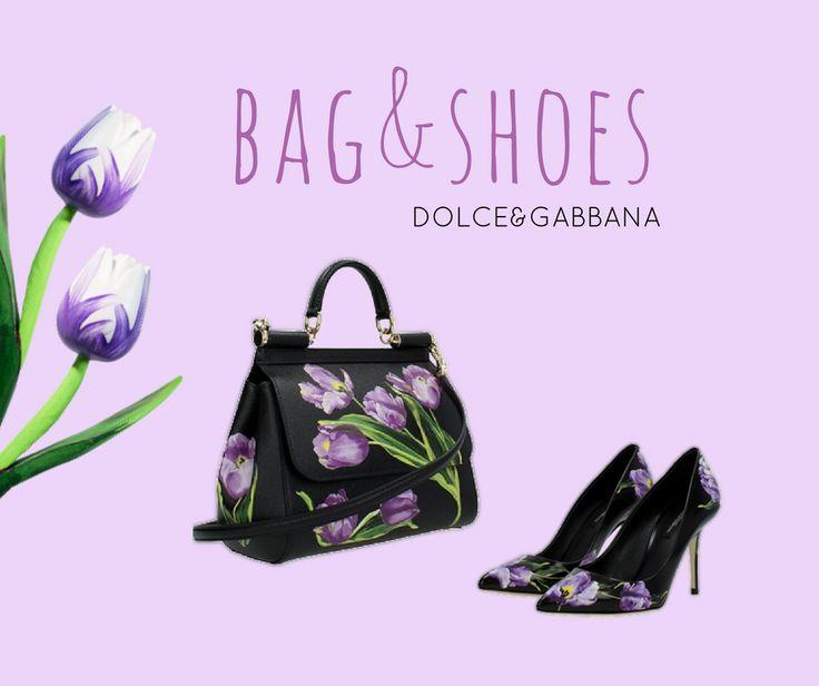 La stampa di Dolce& Gabbana con i tulipani è decisamente sofisticata e chic. Voi che ne pensate?    #Dolce&Gabbana  Borsa ►http://b-ex.it/orsedolcegabbana Scarpe ►http://b-ex.it/b