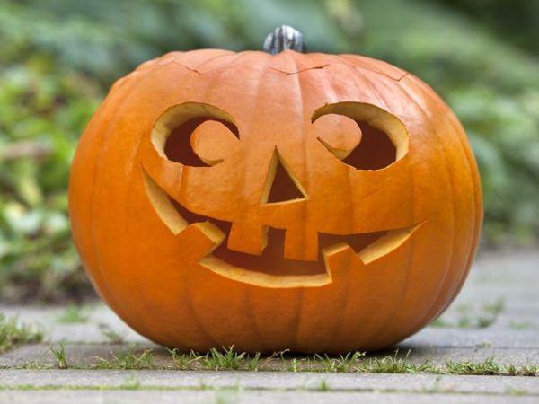 Kürbis für Halloween schneiden