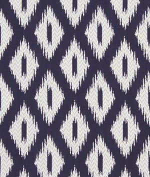 Robert Allen Pointed Peaks Navy Blazer Fabric - $61.7 | onlinefabricstore.net