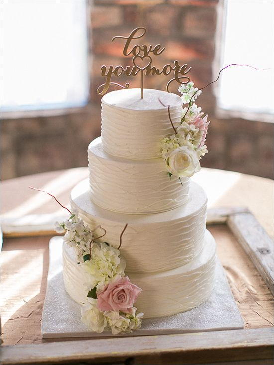 love you more cake topper @weddingchicks