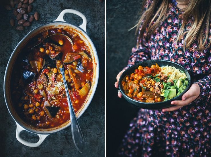 Moroccan Aubergine and Chickpea Stew