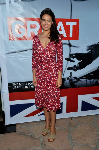 Sophie Winkleman fashion | Actress Sophie Winkleman attends the British Consulate Olympics 2012 ...