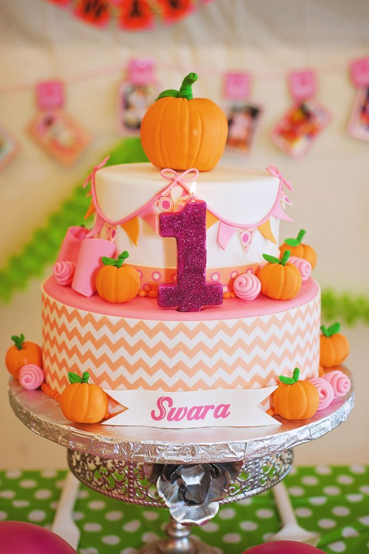 Pink Pumpkin birthday cake. Marble cake with raspberry cream filling!                                                                                                                                                                                 More