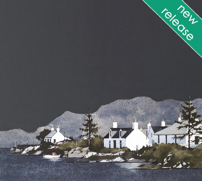 Ron Lawson Plockton, Wester Ross, Highlands. Signed Limited Edition print   Scottish Contemporary Art
