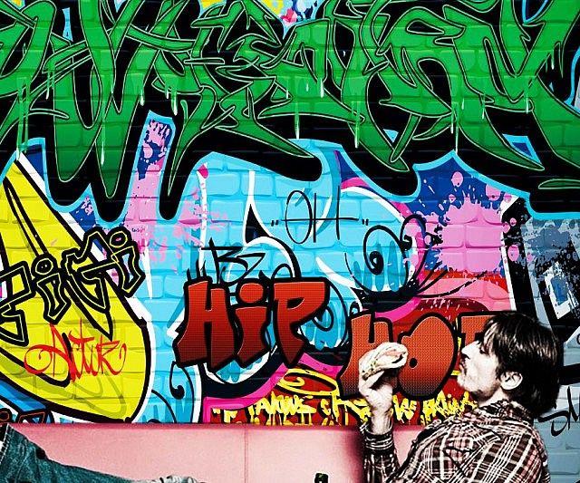 kelly wearstler wallpaper graffiti