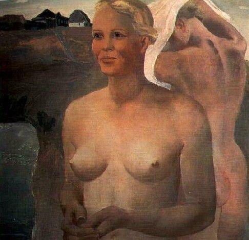 The swimming girls (1933) Alexander Aleksandrovich Deineka (Алексaндр Алексaндрович Дейнeка. Unión Soviética. Rusia, 1899-1969)