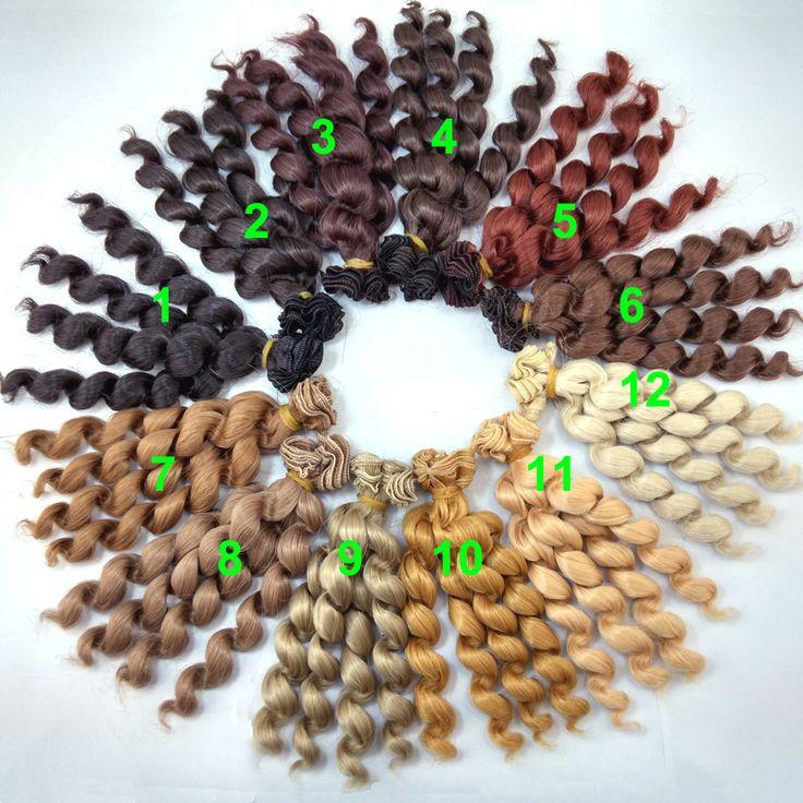 Купить 1 шт. 15 см х 100 см брюнетки блондинки кофе черный коричневый натуральный цвет кудрявые парики кукла волос для 1/3 1/4 1/6 BJD SD diyи другие товары категории Аксессуары для куколв магазине Top1 Fashion storeнаAliExpress. зажим для волос парик и Волосы парики