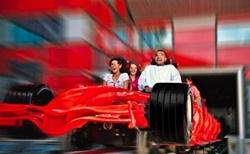 Ferrari World , worlds largest indoor theme park with the worlds fastest roller coaster....