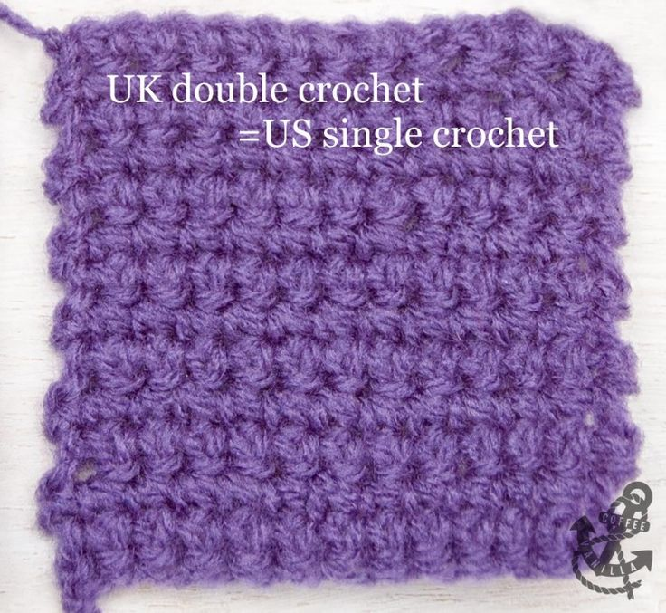 ... UK & US Conversion Chart Crochet, Basic crochet stitches and Double