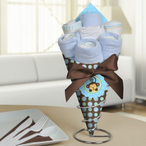 Monkey Boy - Baby Shower Diaper Bouquet