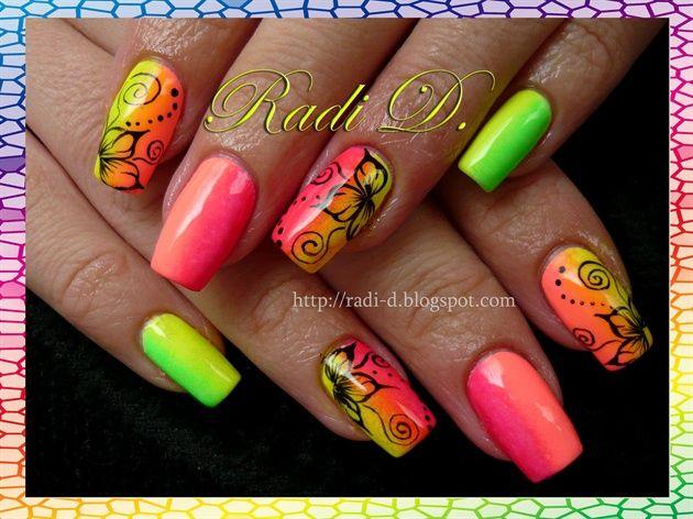 Rainbow Nails by RadiD - Nail Art Gallery nailartgallery.nailsmag.com by Nails Magazine www.nailsmag.com #nailart