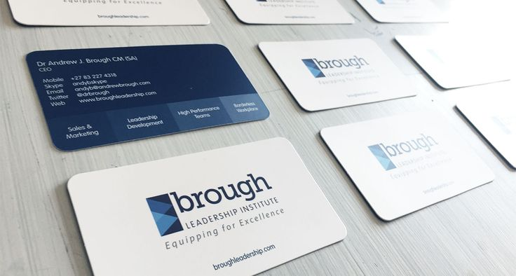 Brough Leadership Institute Business Cards | One Part Scissors
