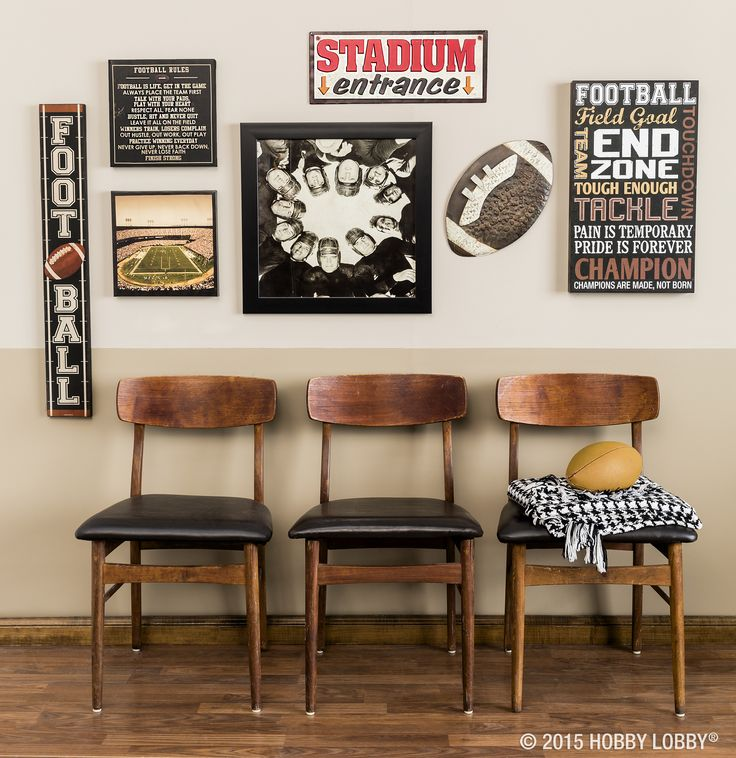 Dress up your office or den with fan-worthy football accessories that reflect your personal style.