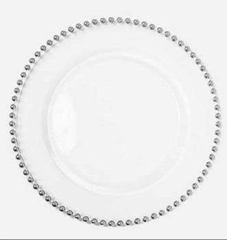 Silver Charger Plates Beaded Charger Plates Available by wedsource