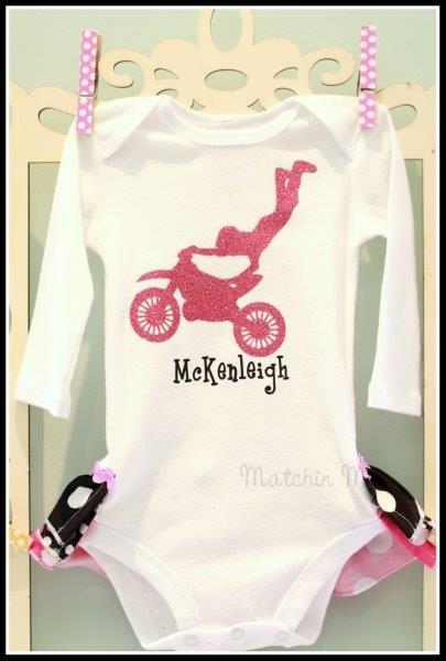 Motocross Ruffle Bootie-Children Clothing Girl baby infant ruffles onesie shirt bodysuit ruffle butt pettiskirt gift girl motorcross motorcycle