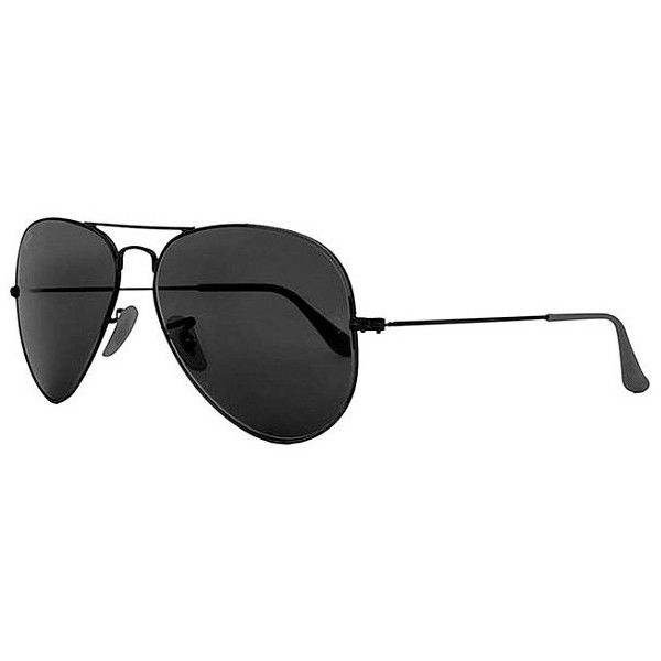Ray-Ban® Aviator Classic Polarized Sunglasses ($185) ❤ liked on Polyvore featuring accessories, eyewear, sunglasses, black, ray ban sunglasses, uv protection sunglasses, polarized aviator sunglasses, aviator eyewear and ray ban glasses