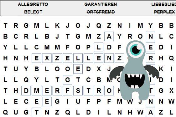 Wörter Suchen Buchstabenrätsel kostenlos online bei ratehase.de