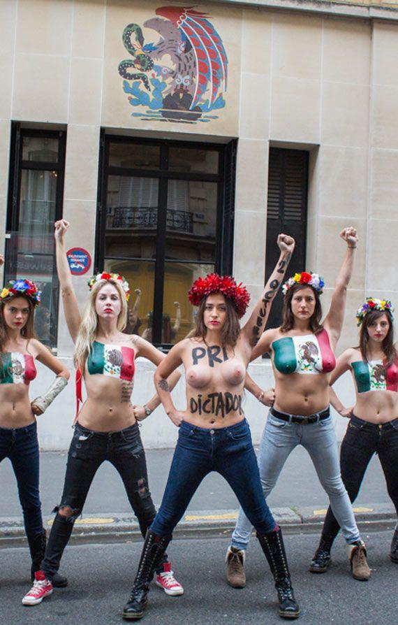 Protesta de @FEMEN_Movement - 2 de Octubre
