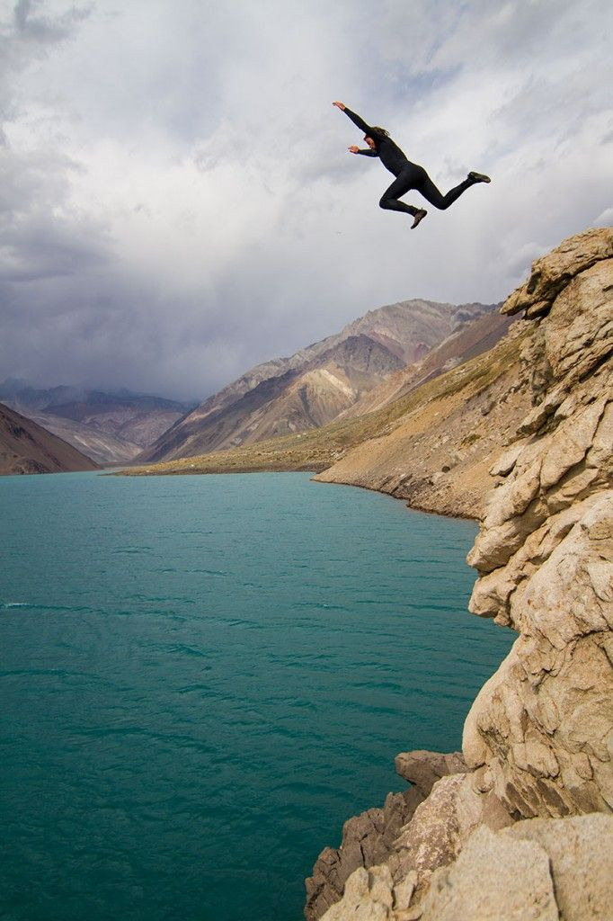 Beautiful Spots to Go Swimming in Central and South America - Condé Nast Traveler  Embalse El Yeso Chile The stunning turquoise waters (created by glacial sediment) of Embalse El Yeso are not the warm, inviting paradise you might think. A leap into the milky pool can actually be quite cold—it will shock your senses and awaken your soul. Wearing a wet suit isn't required, but is is strongly recommended. (Photo by Adam and Emily Harteau)