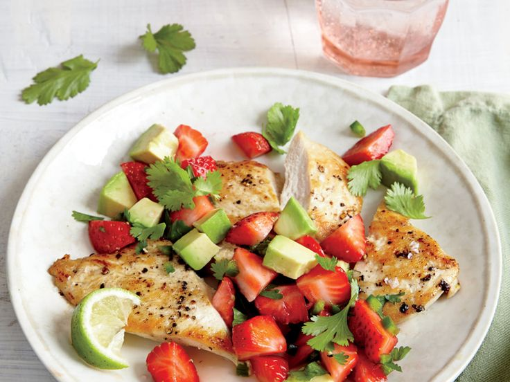 This colorful, flavor-forward dish makes the most of peak-season produce with a sweet and tangy fruit salsa that would be equally...
