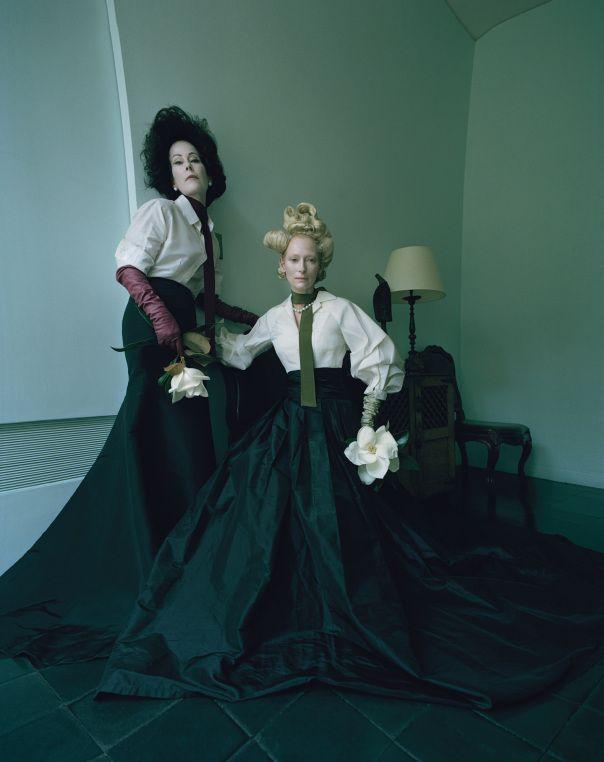 Tilda Swinton & Lady Amanda Harlech In 'The Surreal World' By Tim Walker For W Magazine December 2014