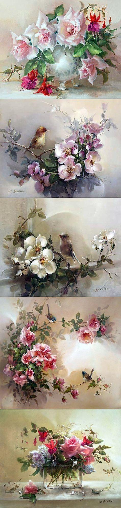 Rosas artista australiano Jill Kirstein ...