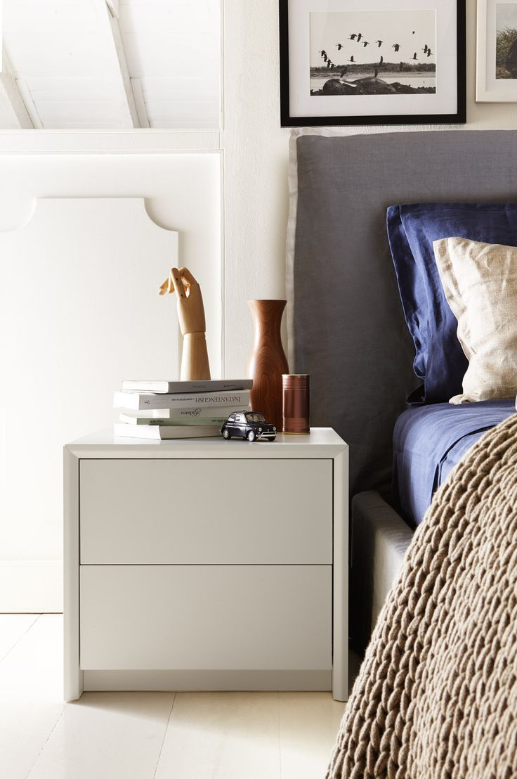 PASSWORD Is A Minimalist 2 Drawer Bedroom Nightstand With Clean Modern  Lines. The 2 Smooth Handle Less Drawers Feature A Handy Push Pull Opening  Mechanism.