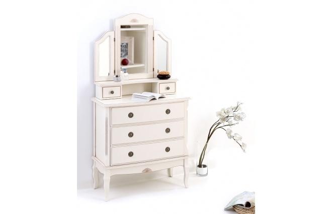 Craquez pour la coiffeuse baroque BIANCA, qui sera parfaite pour créer un effet boudoir très romantique dans une chambre à coucher.